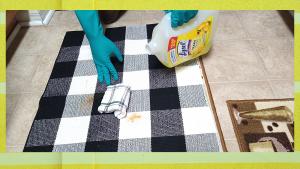 HOW TO REMOVE CARPET STAINS WITH LYSOL SURFACE CLEANER