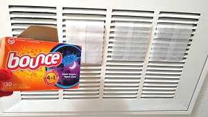 HOW TO FRESHEN THE AIR IN YOUR HOME WITH DRYER SHEETS
